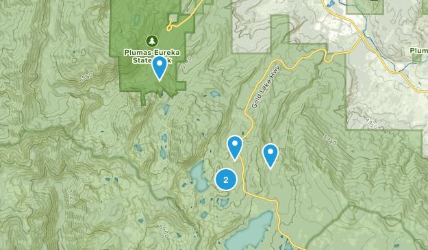 Clio, California Forest Map