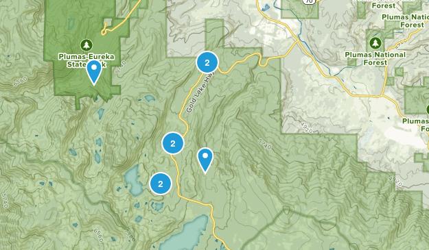 Clio, California Hiking Map