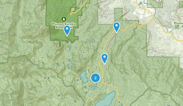 Clio, California Trail Running Map