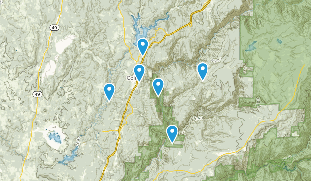 Colfax, California Hiking Map