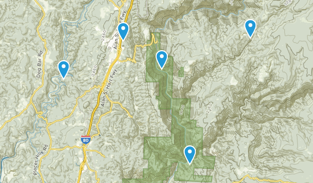 Colfax, California Trail Running Map