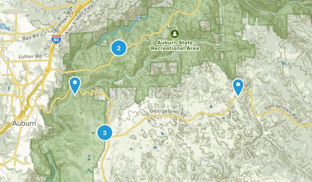 Cool, California Hiking Map