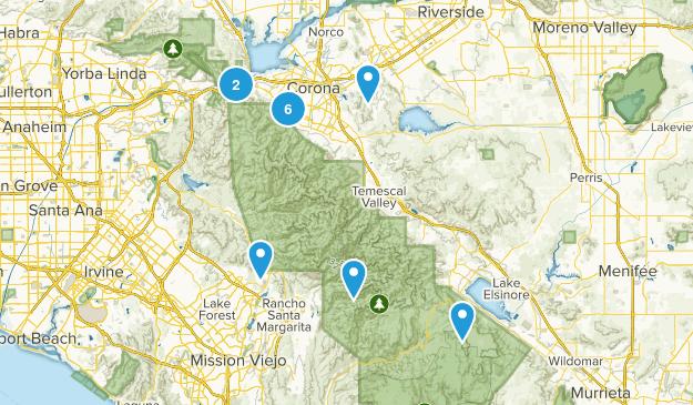 Corona, California Birding Map