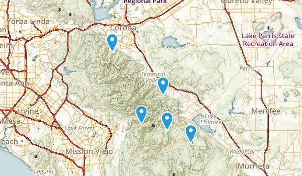 Corona, California Forest Map