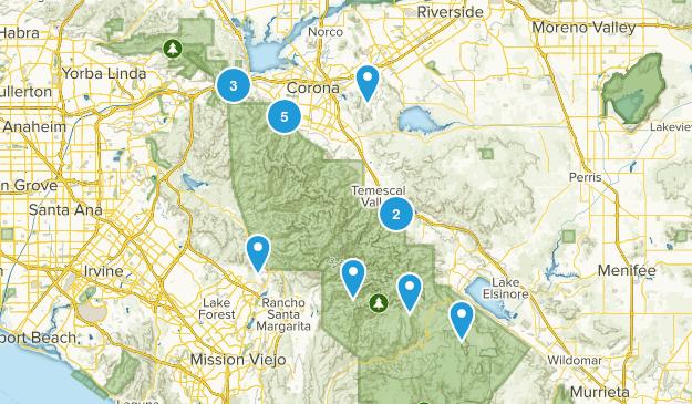 Corona, California Hiking Map