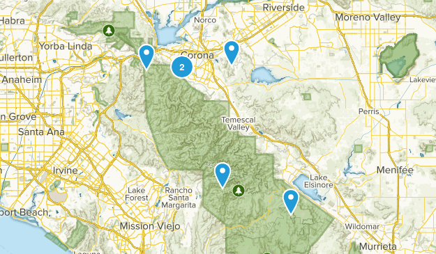 Corona, California Kid Friendly Map