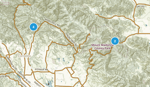 Corralitos, California Hiking Map
