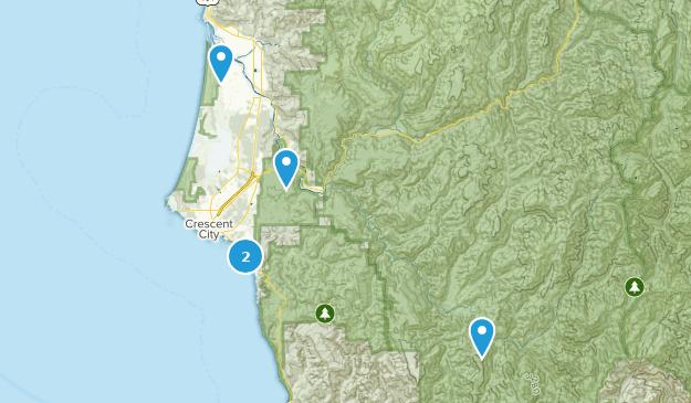 Crescent City, California Fishing Map