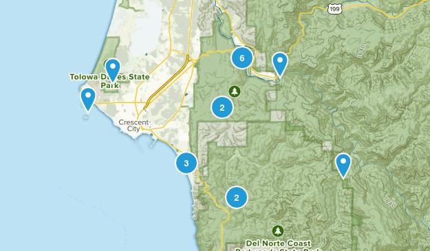 Crescent City, California Trail Running Map