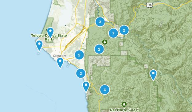 Crescent City, California Views Map