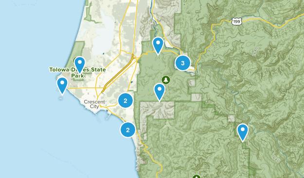 Crescent City, California Wildlife Map