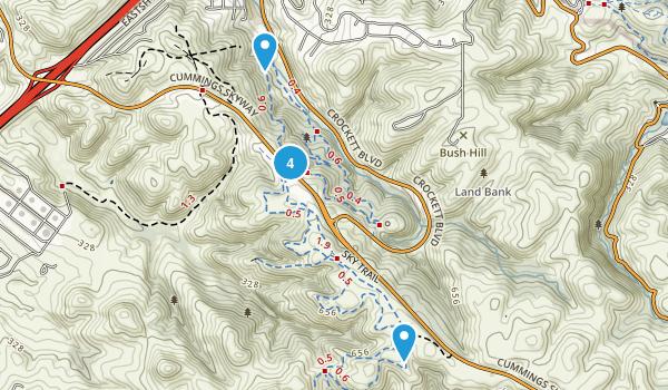 Crockett, California Trail Running Map