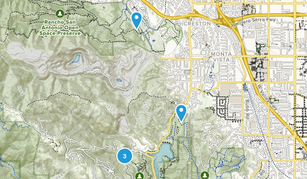 Cupertino, California Forest Map