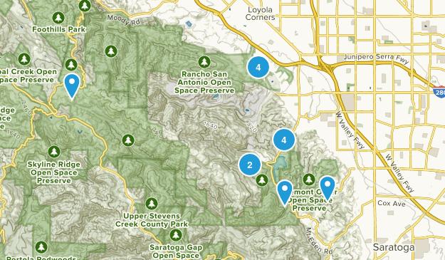 Cupertino, California Trail Running Map