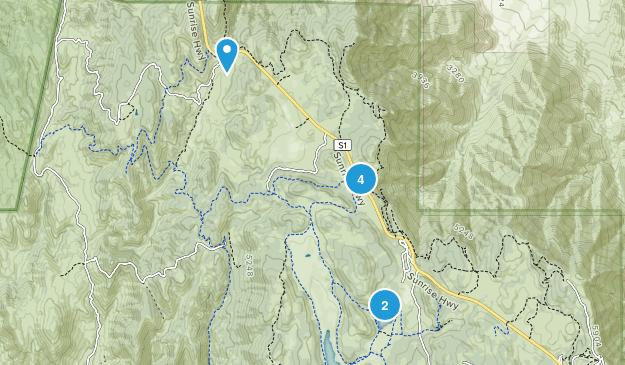 Cuyamaca, California Hiking Map