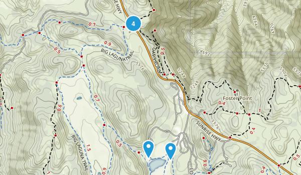 Cuyamaca, California Walking Map