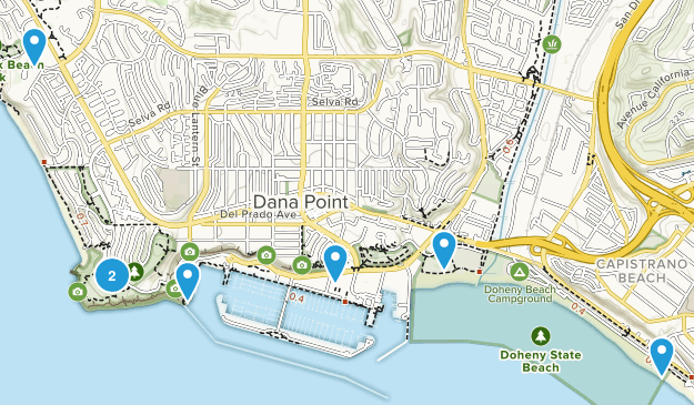 Dana Point, California Hiking Map