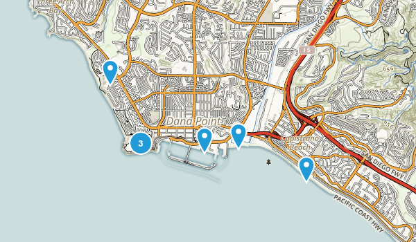 Dana Point, California Walking Map