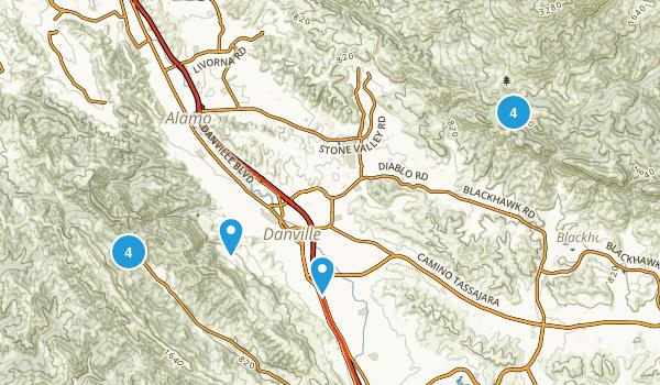 Danville, California Nature Trips Map