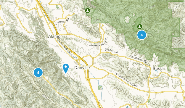Danville, California Wild Flowers Map