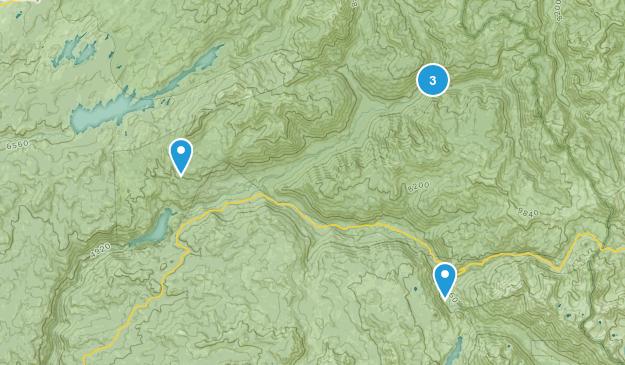Dardanelle, California Hiking Map