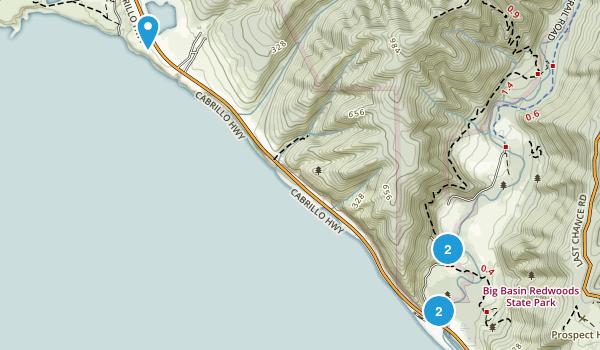 Davenport, California Walking Map