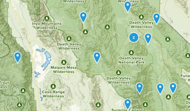 Death Valley, California Birding Map