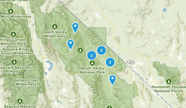 Death Valley, California Kid Friendly Map