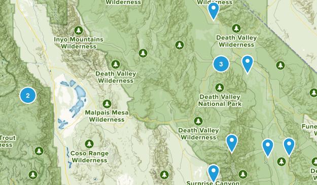 Death Valley, California Wildlife Map