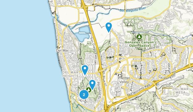 Del Mar, California Hiking Map