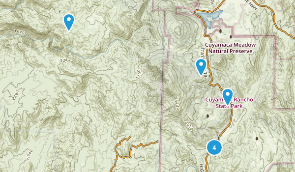 Descanso, California Backpacking Map