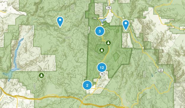Descanso, California Walking Map