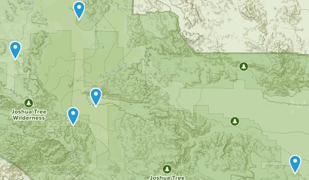 Desert Center, California Backpacking Map