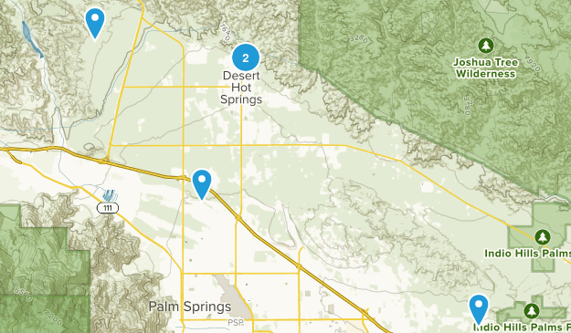 Desert Hot Springs, California Hiking Map