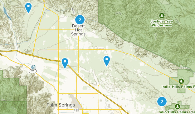 Desert Hot Springs, Kalifornien Hiking Map