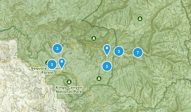 Dunlap, California Forest Map