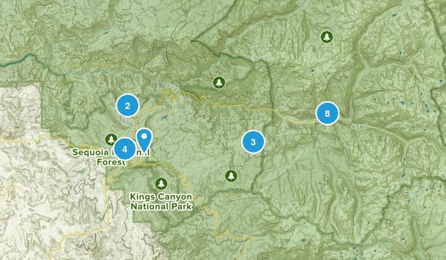 Dunlap, California Nature Trips Map