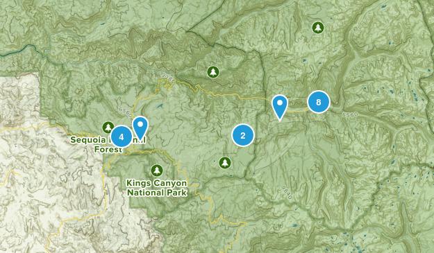 Dunlap, California Wild Flowers Map