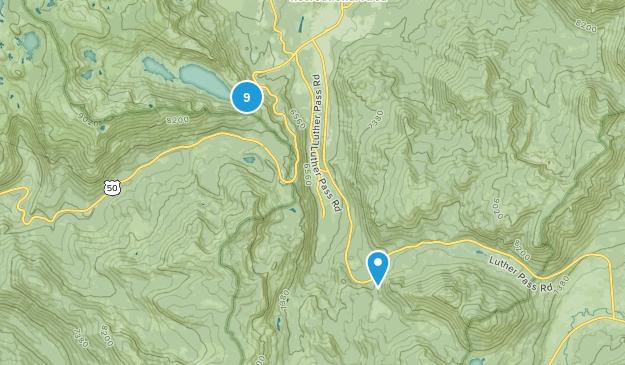 Echo Lake, California Camping Map