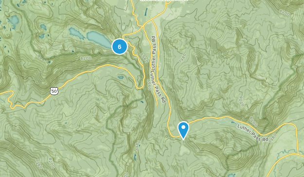 Echo Lake, California Forest Map