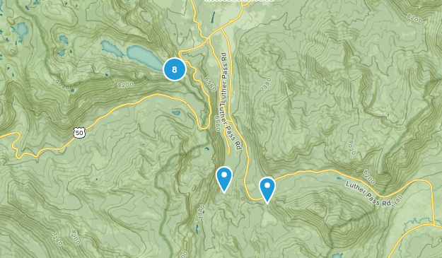 Echo Lake, California Walking Map