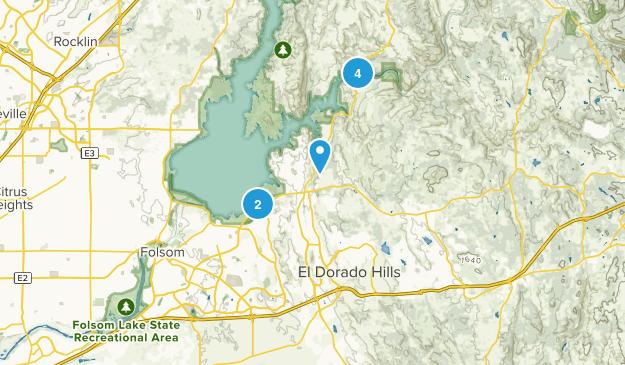 El Dorado Hills, California Mountain Biking Map