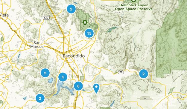 Escondido, California Dogs On Leash Map