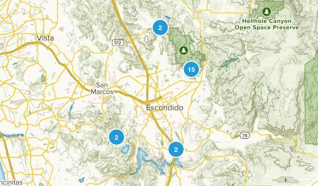 Escondido, California Forest Map