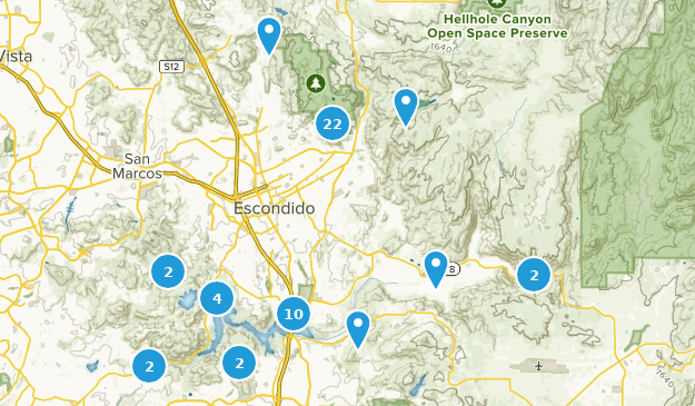 Escondido, Kalifornien Hiking Map