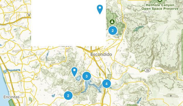 Escondido, California Horseback Riding Map