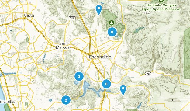 Escondido, California Mountain Biking Map