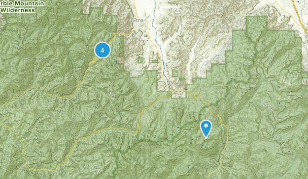 Etna, California Backpacking Map