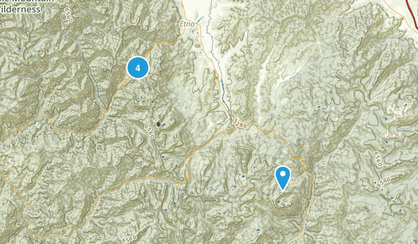 Etna, California Hiking Map