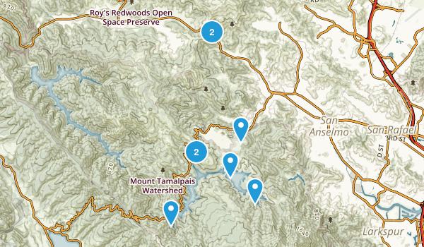 Fairfax, California Mountain Biking Map